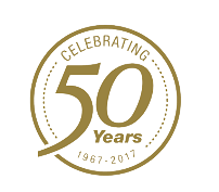 50 Years of Service badge